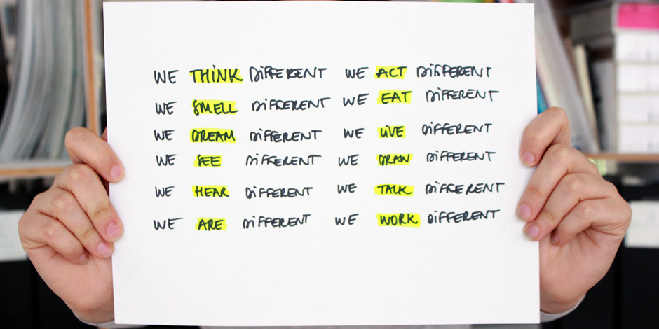 POD Design Think Different about us Brooks Atwood