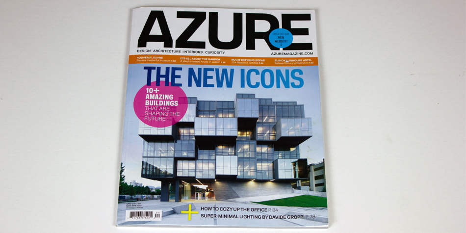 AZURE MAGAZINE COVER Joe Doucet Brooks Atwood sylki chair