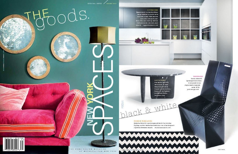 New York Spaces Spring 2013 POD DESIGN Brooks Atwood Sylki Chair black & white