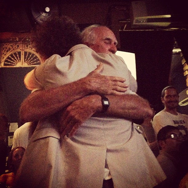 HGTV Star Brooks Atwood dad hugging