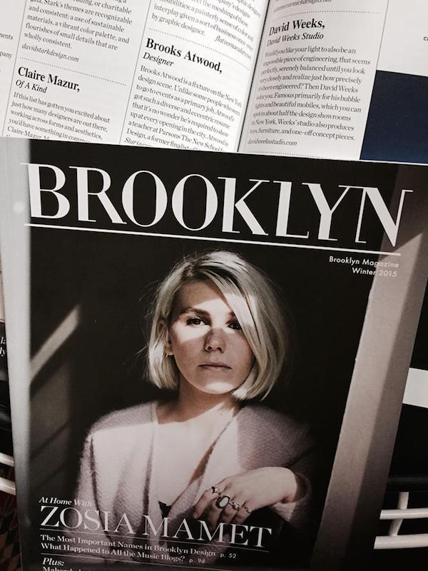 brooklyn magazine 1214 Zosia Mamet Brooks Atwood most important names design detail