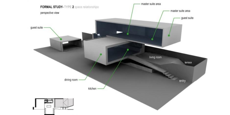 conceptual design slice house - Conceptual Design House